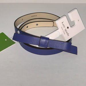 """kate spade Accessories - New Kate Spade  Bow Belt Bleu M  34"""" inc"""